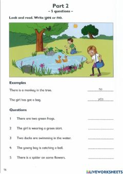 Ficha interactiva Writing and reading test 2