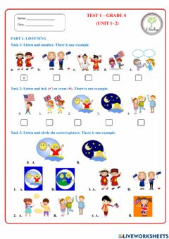 Interactive worksheet Test 1 (Review unit 1+2)