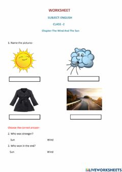 Ficha interactiva Class 2 the wind and the sun
