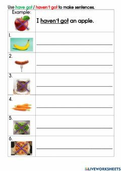 Interactive worksheet Unit 4 Lunch time