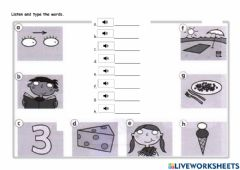 Ficha interactiva Year 2-Lesson 73-Listening 17-Listen and type the words