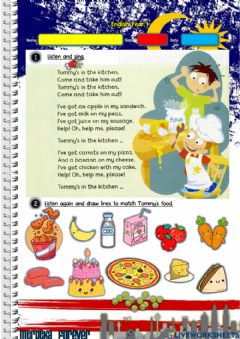 Ficha interactiva Year 1: Lunchtime 3 - Tommy's kitchen