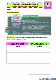 Interactive worksheet Unit 9: A Heart of Gold (Reading)