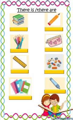 Interactive worksheet There is and there are