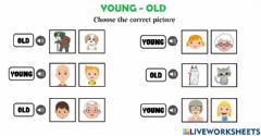 Interactive worksheet Young old
