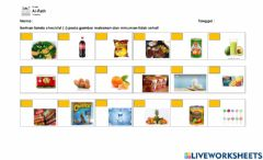 Interactive worksheet Healthy and Unhealthy Food and Drink
