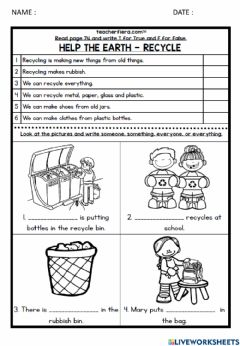 Ficha interactiva Module 7 Helping Out Indefinite Pronouns page 74&75