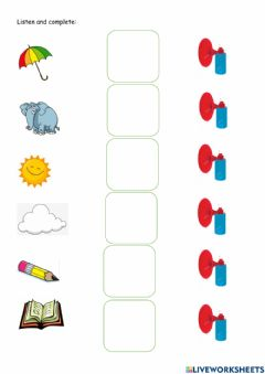 Interactive worksheet Animals and fruits