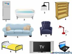 Interactive worksheet Le mobilier