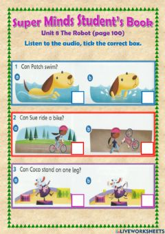 Interactive worksheet SuperMinds Unit 8 The Robot (pg 100)