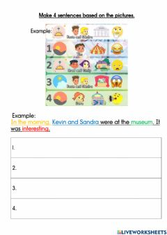Interactive worksheet Module 8 Where were you yesterday?