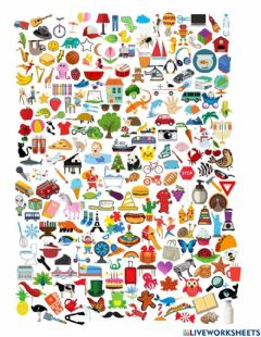 Ficha interactiva Find all the edible things