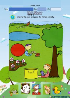 Ficha interactiva Year 1: Pet Show 6 - Listening and reading