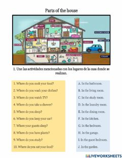 Interactive worksheet Taller - Parts of the house