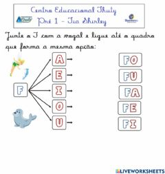 Interactive worksheet Consoante F
