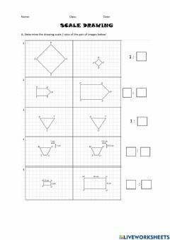 Ficha interactiva Scale Drawing
