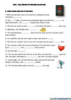 Interactive worksheet THe tell-tale Heart