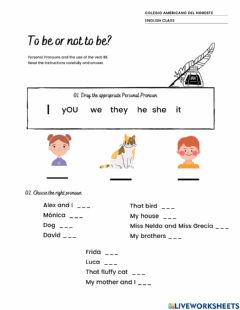 Interactive worksheet To be or not to be?