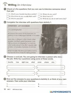 Interactive worksheet Unit 1 - Page 12