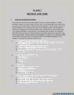 Ficha interactiva Motion and time