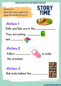 Interactive worksheet Story Time: The Ghost