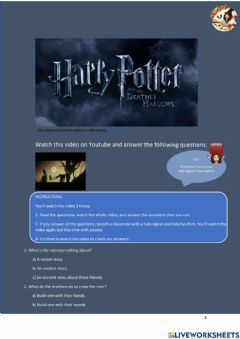 Ficha interactiva Harry Potter and the Deathly Hallows