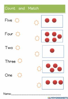 Interactive worksheet Number and count