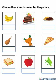 Interactive worksheet Year 1-Lunch Time