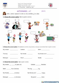 Ficha interactiva Personal pronouns and to be