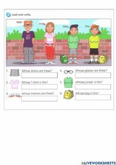 Interactive worksheet Get smart plus 3 My New House