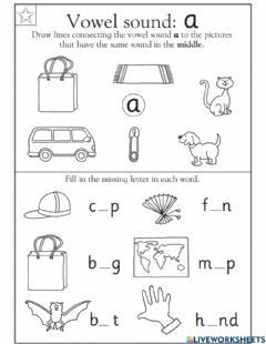 Interactive worksheet Phonic a