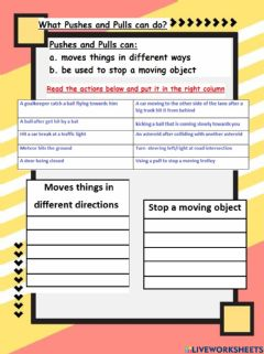 Ficha interactiva What pushes and pulls can do