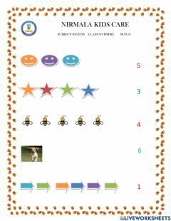 Interactive worksheet Count and match