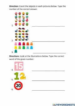 Interactive worksheet Count to 20-