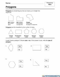 Interactive worksheet Polygons practice Carr