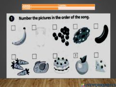 Interactive worksheet Tommy's in the kitchen - song
