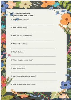 Interactive worksheet Year 3 Unit 7 Out and About