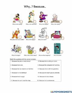 Interactive worksheet Why - because