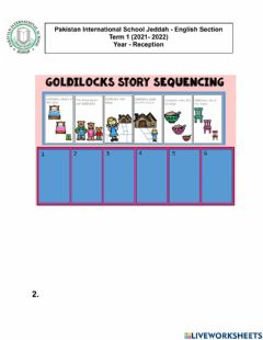 Interactive worksheet Story sequence