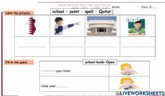 Interactive worksheet Label the pictures and fill in the gaps