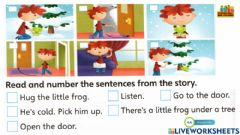 Interactive worksheet Worksheet for super minds page 44  unit 3 the pet show read and number the sentences by superminds and friends