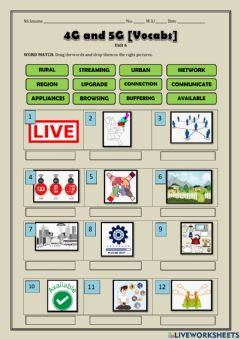 Interactive worksheet 4g and 5g