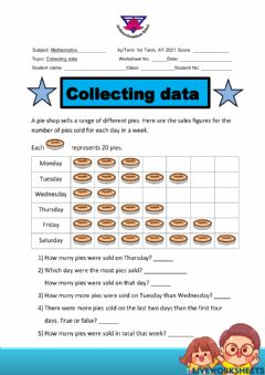 Interactive worksheet Collecting data