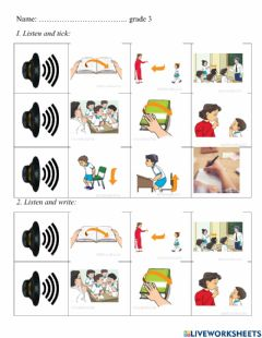 Interactive worksheet Stand up!