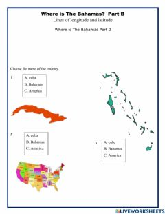 Interactive worksheet Where is The Bahamas Part 2
