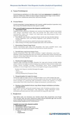 Interactive worksheet Writing an Analytical Exposition Text