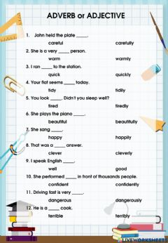 Ficha interactiva Adverb and adjective