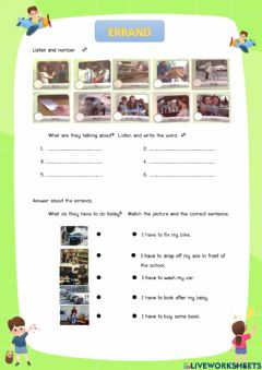 Interactive worksheet Have to - has to