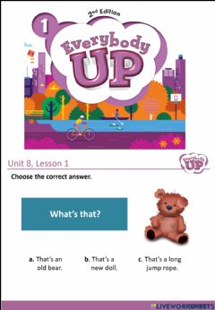 Interactive worksheet Everybody up 1 - Unit 8 - lesson 1+2