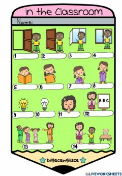Interactive worksheet In the Classroom (Choose)-2